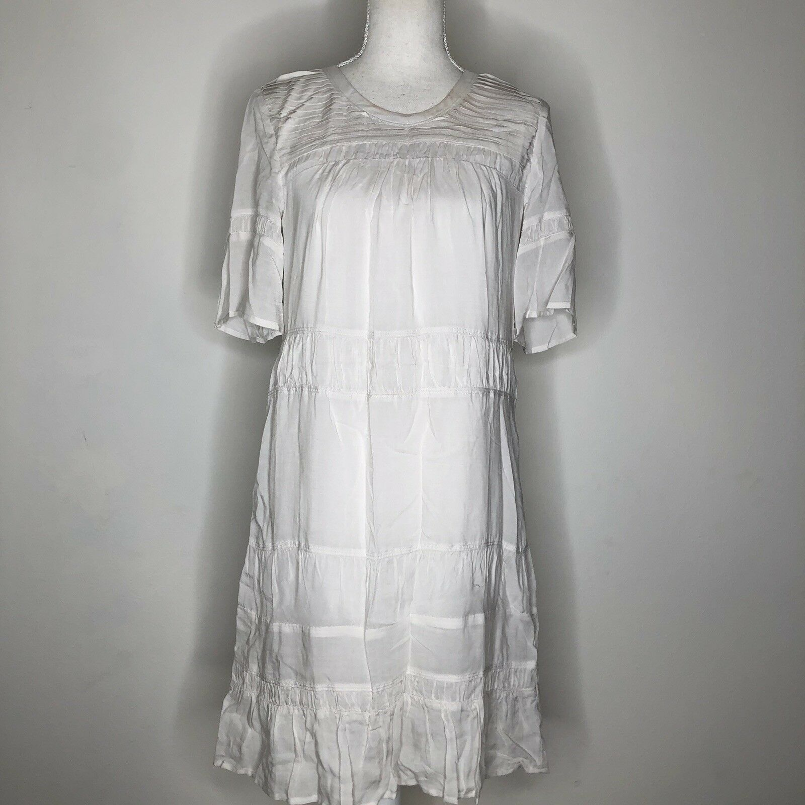 James Perse Pleated Shift Sundress Sz 1
