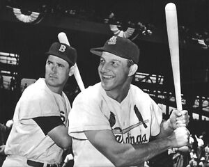 St-Louis-Cardinals-STAN-MUSIAL-amp-Boston-Red-Sox-TED-WILLIAMS-Glossy-8x10-Photo