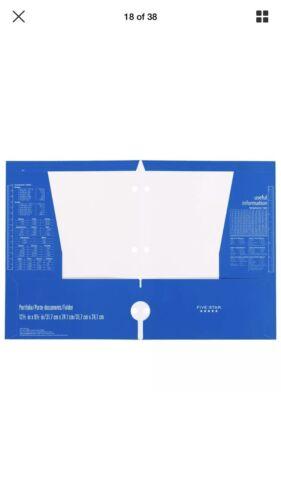 Five star Laminate 4 folders for 5.50 4 pockets blue folder