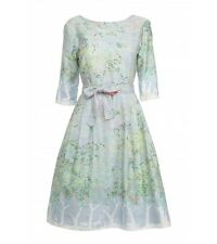 Modcloth Bryony Palava Poppy England Beatrice Dress Light Blue Orchard UK 14 L