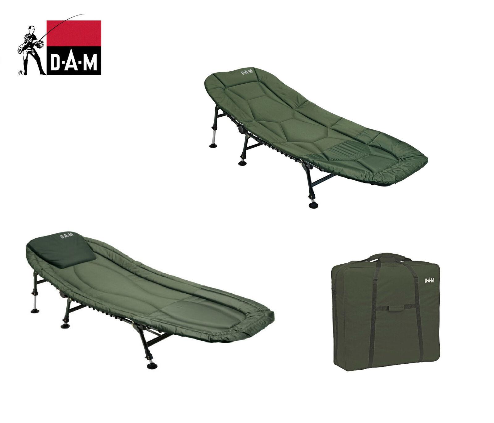 Dam Six-Leg Luxe Chaise Pêche Carpe Acier Aluminium Sac