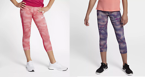 89939367cc9f Nike Pro HyperCool Older Kids  Girls Capris Training Tights 859950 ...