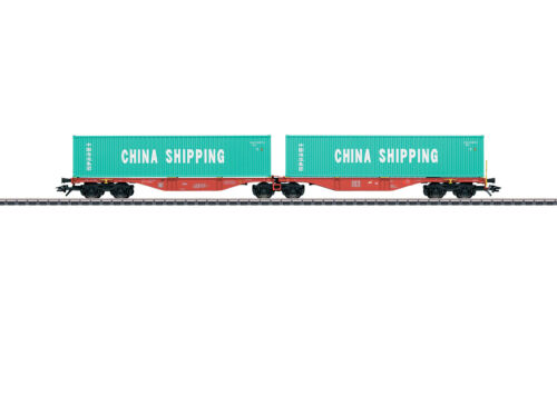"""Märklin 47809 doble-contenedor armazón carro sggrss 80/"""" china shipping/"""" #neu en OVP #"""