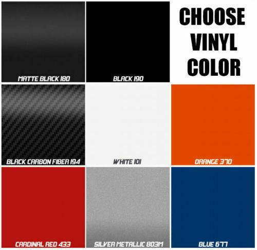 Pair SLINGSHOT Vinyl Hood Lettering Kit for the Polaris Slingshot