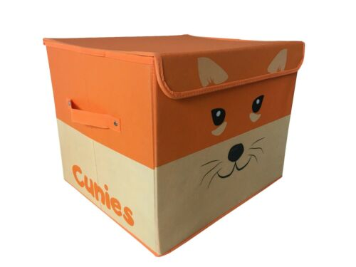 Cunies Foldable Storage Toy Box Basket Toy Bin For Bedroom Nursery Baby Shower