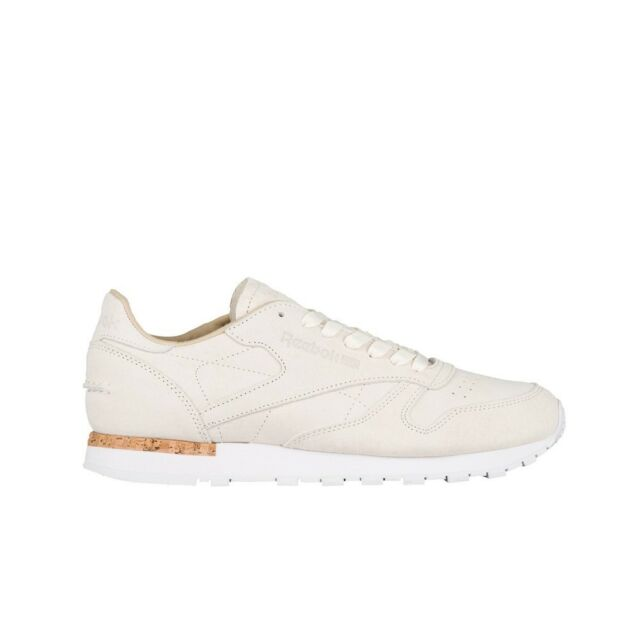 US M Reebok Men/'s CL Leather LST Fashion Sneakers Classic White//Paperwhite D