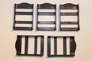 """Military Webbing Strap Tongueless Tabler Buckle, 1"""", Mil-Spec, Black. Lot of 5"""