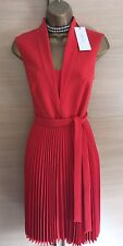 Exquisite Karen Millen Red Brand New Belted Trench Dress Uk10 Current Season