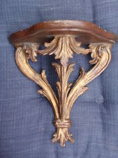 VINTAGE ITALIAN FLORENTINE CARVED GILT WOOD WALL BRACKET DISPLAY SHELF