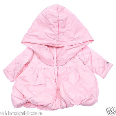 Floriane baby girls French ballon pink jacket coat NWT Sz 0 (6m) & 1