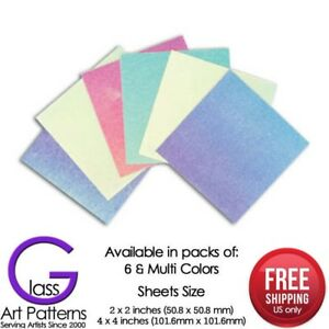 Dicro-Slide-Sample-Set-Hot-Glass-Supplies-Use-on-Any-COE-Dichroic-Fusible-Paper