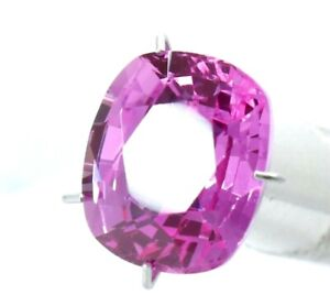 5.30 Ct Natural Pink Sapphire Cushion Cut Certified Gemstone Best Quality AAA+