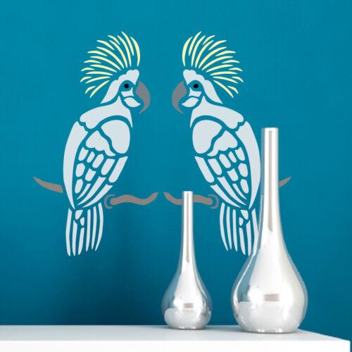 Craftstar cacatúa Stencil-Plantilla de ave tropical 15 X 27 Cm