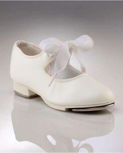 White N625//N625C Toddler /& Kids Capezio Jr Tyette Tap Shoe