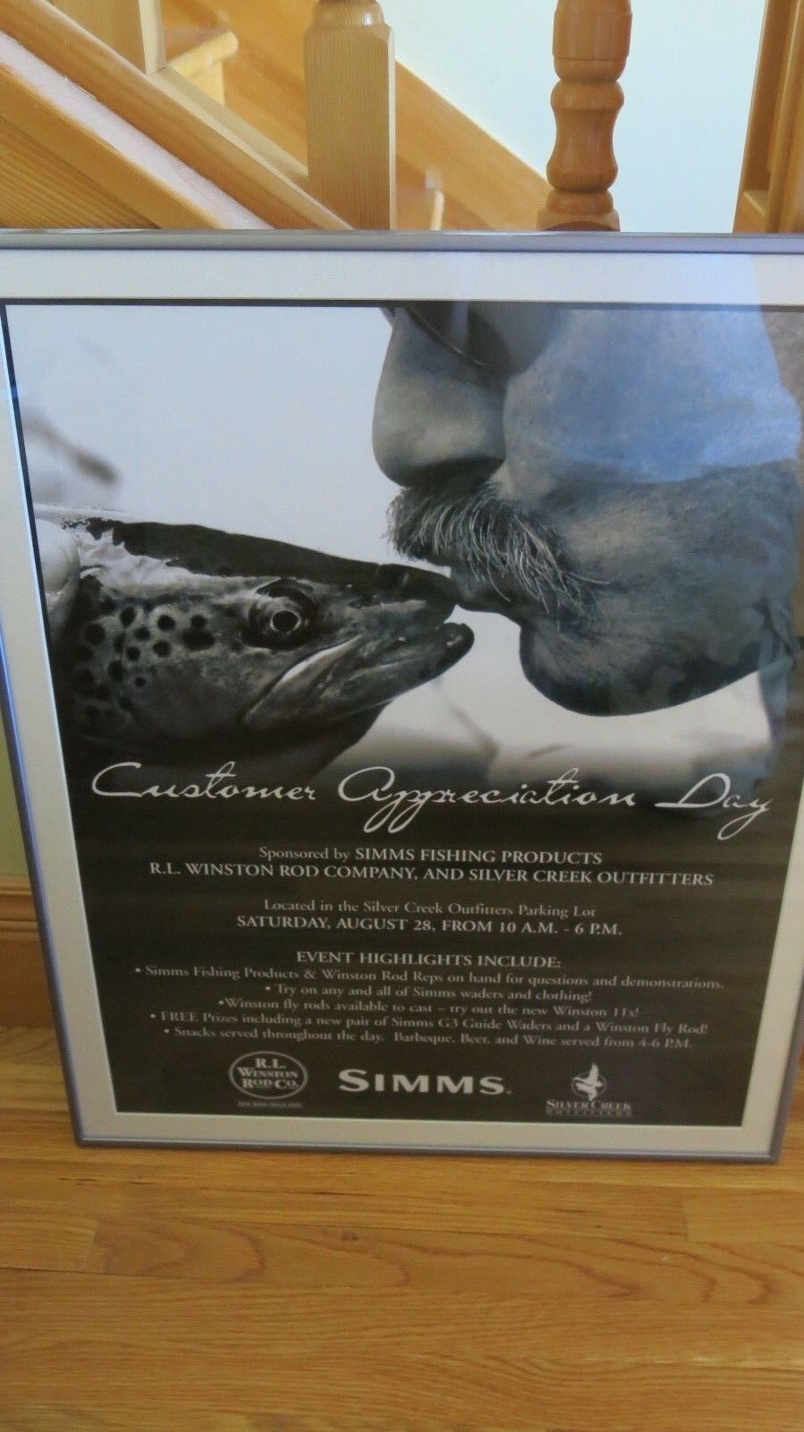 RARE Simms Fishing Products Framed Event Poster