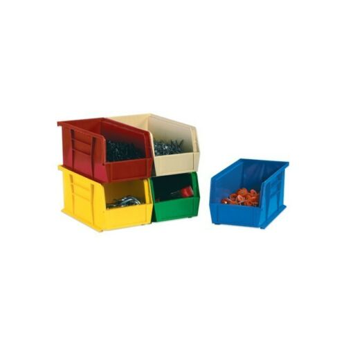 "10 7//8/""/"" x 11/""/"" x 5/""/"" 6//Case/"" /""Plastic Stack /& Hang Bin Boxes Blue"