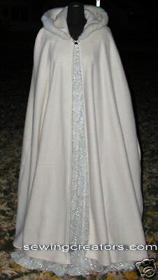 Winter Bridal Cape Formal Cloak  Fur /& Fleece Custom Requests Available