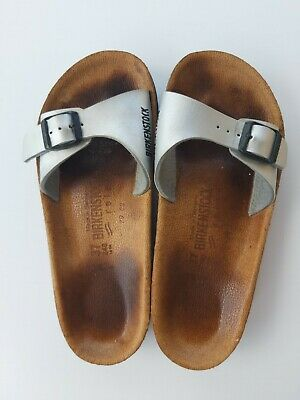 BIRKENSTOCK Relax Women's Sandals Shoes Silver SIZE 37 EUC Rare One Strap Madrid   eBay