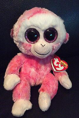Consegna Veloce W-f-l Ty Boos Ruby Scimmia Scimpanzé Rosa 15 Cm Glubschi Bu 's Glitzeraugen-