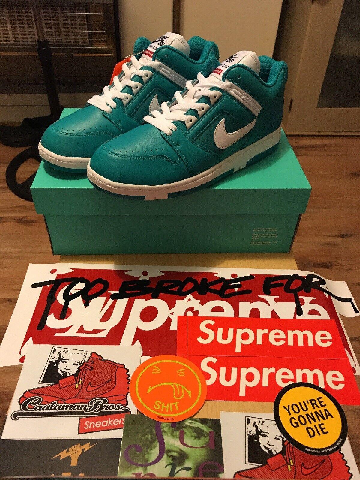 Supreme X Nike AF2 basso basso basso SMERALDO BLU f05226