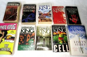Lot of 10 STEVEN KING Paperback Books; The Stand; Thinner; Carrie; Cell;