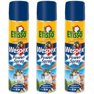 Frunol Delicia ETISSO® 3x 600ml Wespex Power-Spray Wespen Bekämpfung Nest Schutz