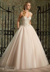 dbc26ccd6144 Mori Lee Wedding Dress Style 2716 Size 8 Ivory/caramel and Silver ...
