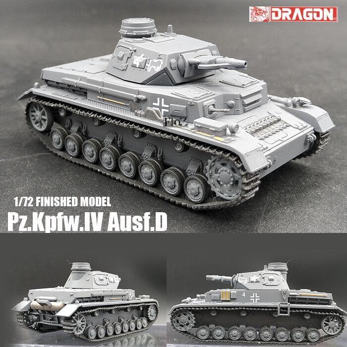 Dragon Segunda Guerra Mundial Alemania pz. Kpfw. IV Ausf. D 1 72 tanque modelo diecast acabado no