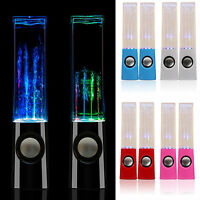 2pc LED Dancing Water Light Speakers Music Fountain for Phone Computer FREE SHIP