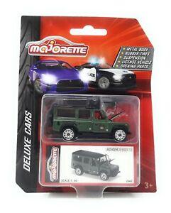 Majorette-Model-Car-metal-Deluxe-Cars-Land-Rover-Defender-green-1-60