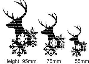 XMAS-Die-Cut-Silhouette-Stag-amp-Snowflakes-x-6-Cardmaking-Christmas-Jars-Lanterns