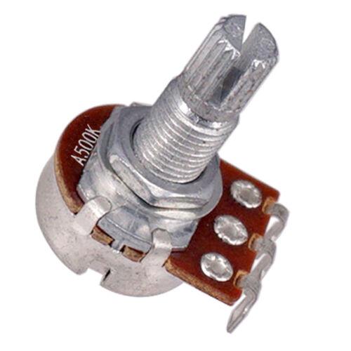 LONG SPLIT Shaft 500K E Gitarren Potentiometer Töpfe Lautstärkeregler
