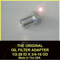 1/2-28 To 3/4-16 Threaded Adapter 6061 T6 Aluminum Automotive Oil Filter