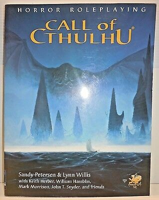 Call of Cthulhu Core rulebook Horror roleplaying 5.5 ed Chaosium Inc 2376 RPG SC