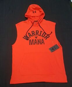Under Armour Men's Warrior Mana Project Rock Terry Hoodie Power Red 1352693-608
