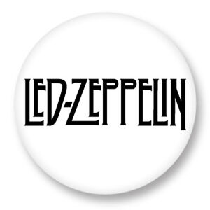 "Pin Button Badge Ø25mm 1/"" Led Zeppelin Rock UK Led Zep Page Plant"