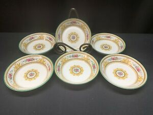 Wedgwood-034-COLUMBIA-034-Center-Medallion-Set-of-6-Dessert-Bowls-5-034