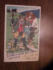 L MEGGENDORFER COMIC MONKEY DOG animal postcard 1907
