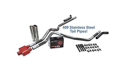 "Chevy GMC 1500 88-95 Single 3/"" Truck Exhaust Kits Cherry Bomb Salute Slash Tip"