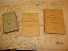GUERRA A.O.I. - GAIBI, A.: Storia COLONIE ITALIANE+TAVOLE 1934 e MANUALE 1928