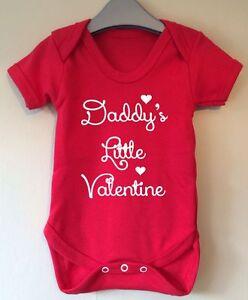 5f2039de1 DADDY'S LITTLE VALENTINE BABY BODY VEST BABY GRO GIFT IDEA GIRL BOY ...