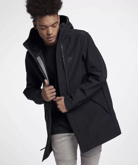 Nike Mens Tech Shield Hooded Jacket In Black 886162 010 Size Large by Nike