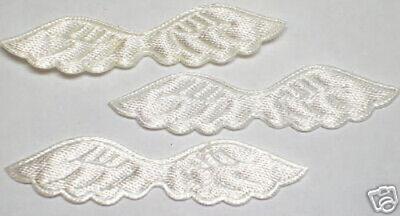 Satin Embossed angel wings Appliques Craft x 100 Pink-Cardmaking