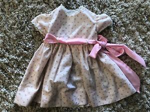 Vintage Handmade Dress in Purple Floral Detail for Toddler