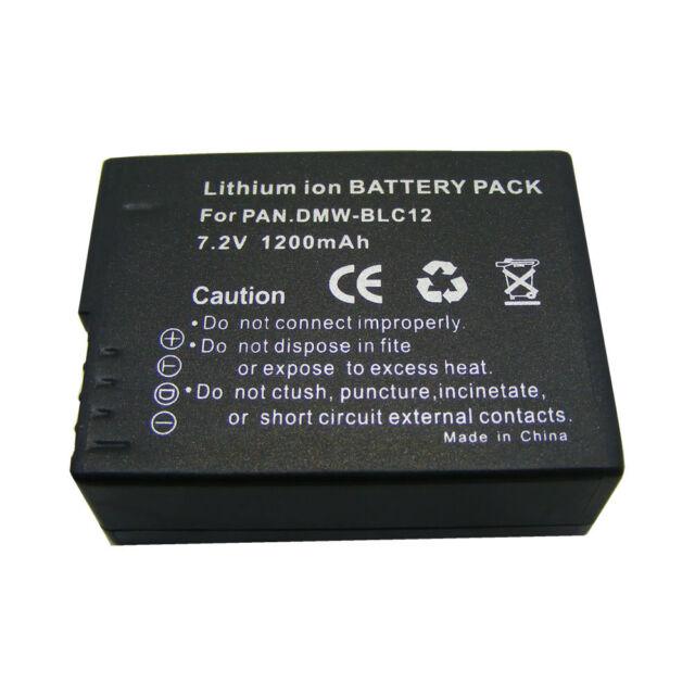 Digital Camera Battery DMW-BLC12E 1200mAh for Panasonic Lumix DMC-FZ1000