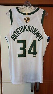 Giannis Antetokounmpo NBA Finals Auto'd Milwaukee Bucks ...