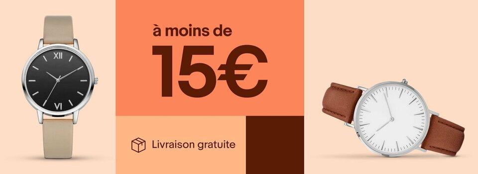 Montres à moins de 15 €