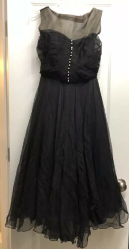Vintage Jay Thorpe 1950s Black Dress - Pinup Rocka