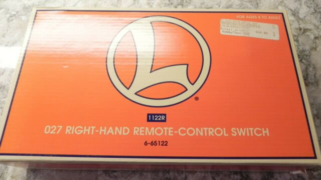 NIB O Lionel 6-65122 O-27 O Gauge Remote Control Right Hand Turnout