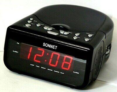 PYE AM//FM Alarm Digital Clock Radio+Red LED Display+Snooze//Sleep Function PCR3
